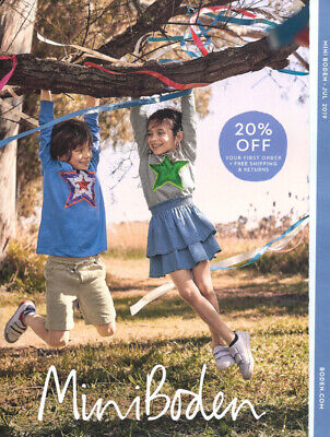 Kids Clothes Catalogues (MINI BODEN Children's Kids' Fashion Catalog July 2019 GIRLS BOYS Summer)