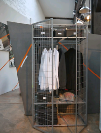 Industrial minimalist steel wardrobe