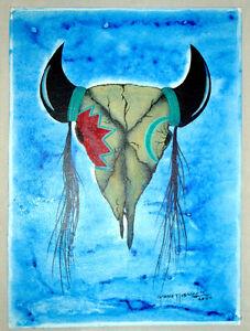 Buffalo Skull by Garnet Tobacco