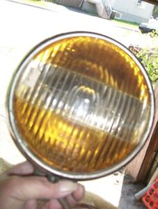 Packard Clear and yellow Fog Light CM Hall Lamp Co Chrome Origin