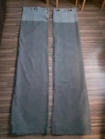Two tone grey unlined curtains 72drop
