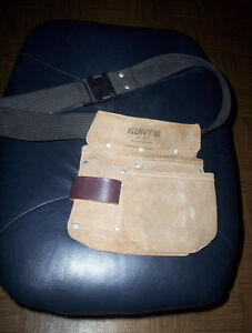 Kuny's leather nail bag AP  617 with belt & drill holster holder