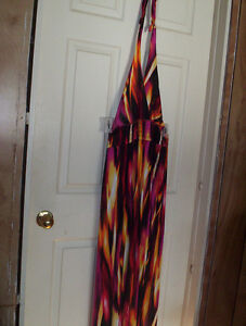 XL 14/16 Beach Belle long beach cover up halter dress vivid NWT