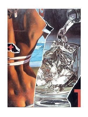 Fritz Köthe CINZANO 2005, Pop Art Grafik original handsigniert & nummeriert  NEU