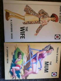 Adults Ladybird book x 2