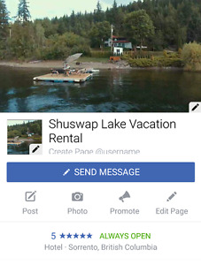 Shuswap lake vacation rental