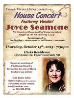 Ivan & Vivian Hicks present Joyce Seamone in Concert