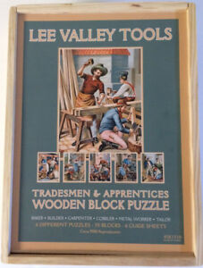 Six-Sided Wooden Block Puzzle - Tradesmen & Apprentices