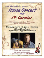 House Concert with JP CORMIER!