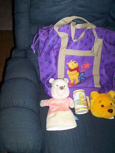 Winnie the Pooh diaper bag tote hand puppet puzzle cup fanny bum