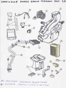 Rear A/C Evaporator & Expansion H-Valve Kit