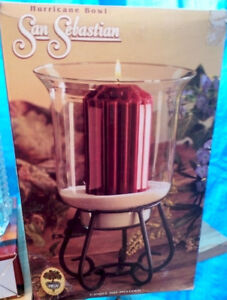 ****Hurricane Bowl – with Stand – For Candles Etc. –NIB****