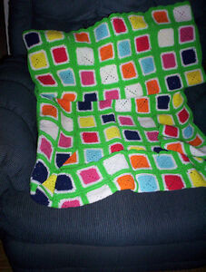 crib afghan with fitted end & dinosaur quilt hand made childs