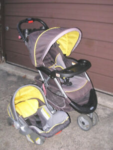 aff0f6e6f19 Used Baby Trend Jogging Stroller + matching car seat (no base)