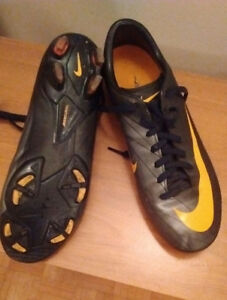 Boys soccer cleats and shin pads