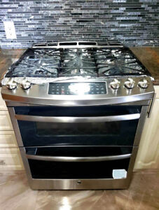 "Ge profile Gas Stove 30"" Stainless Steel Double Oven $1499"