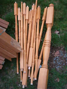 Hardwood dowels/banister..for any project $12.00 for all