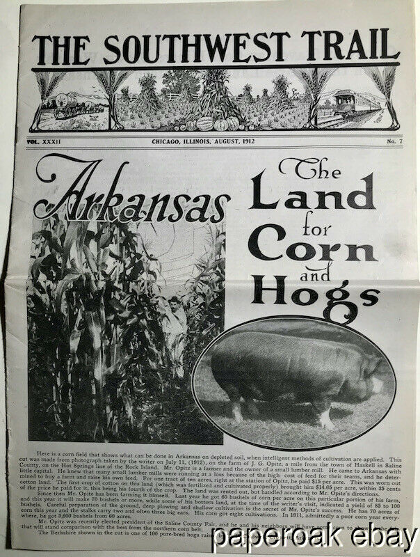 1912 Arkansas Promotional Magazine For Land & Agricultural Development