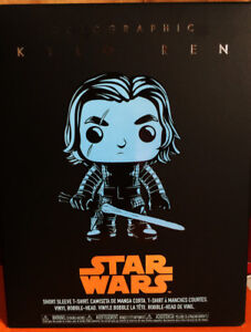 Target Exclusive : Holographic Kyle Ren Funko Pop with T-shirt