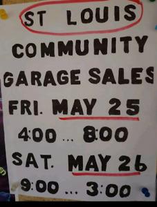 St.louis community garage sale sat may 26th