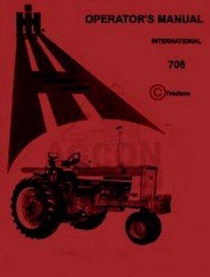 International Harvester Farmall 706 Gas Diesel Operators Instruction Manual Ih