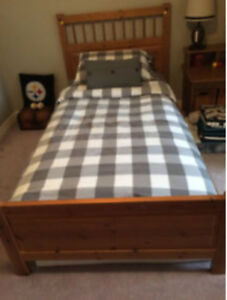 Ikea Hemnes Antique Pine Single Bed