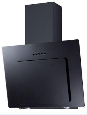 PKM 9039X Glas schwarz Dunstabzugshaube Randabsaugung 60cm Kopffreihaube Schräg