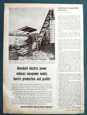Orig 1956 Electric Co's  Ad Photo Endorsed by C R Hack of Berwick Pennsylvania