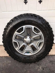 BF Goodrich Mud Terrain Tires and Jeep Rubicon Wheels