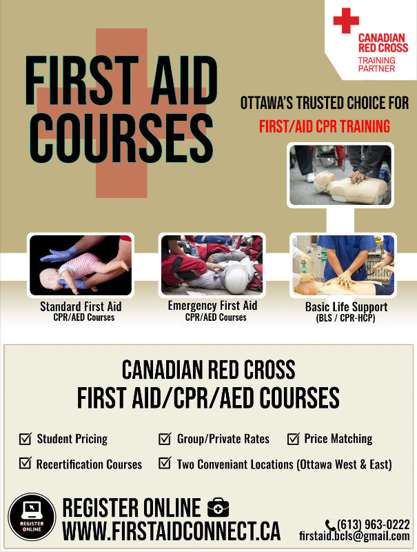 39 Cpr Caed First Aid Certified Red Cross Training January