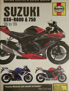 GSXR 600 / 750 Haynes Service Repair Manual, 2006-2009
