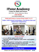 Tutor Math and Science courses from grade 5 to 12