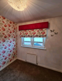 Roman blind made from Laura Ashley material