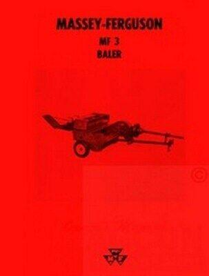 Massey Ferguson Mf 3 Mf3 Baler Operators Manual