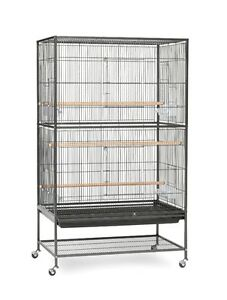 Flight Cage with Stand Bird Cage,  with 2 budgies + 1 egg