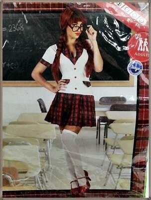 ATOSA 18994 Schulmädchen Kostüm Größe XS-S rot/bunt kariert College - Karierte Mädchen Kostüm