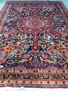 Vintage persian Rug,wool,Hand knotted,11.11 x 8 ft,Decorative ru
