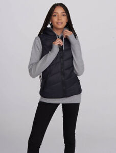 Bench Core Puffer Vest with Hood in Collar