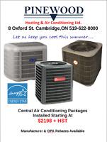 CENTRAL A/C SYSTEMS **QUALITY INSTALLATIONS** **GREAT PRICES**