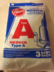 GENUINE D'ORIGINE HOOVER 3 SACS FILTRANTS TYPE A. VACUUM