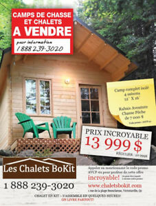 Camp de Chasse, abri sommaire, camp forestier Bokit 12x16 bokit