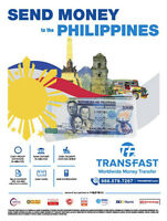 Send money to Philippines within some day, low fee and good rate