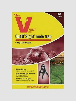 VICTOR Out O' Sight MOLE TRAP Steel Rodent Killer Iron Jaws Woodstream 0631 NEW