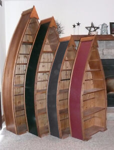 Canoe Boat Bookshelf perfect for the Cottage or Den