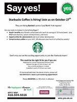 Baristas & Customer Service Reps (Starbucks Job Fair)