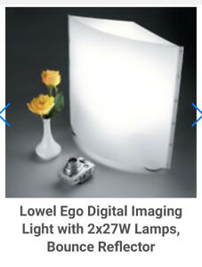 Lowel ego digital imaging light with 2x27W Lamp Bounce reflector