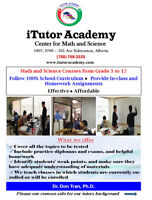 Tutor Math and Science courses from grade 3 to 12