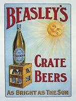 De Beasley Caja Botella Cerveza Old Pub Bitter Ale Bar Hotel Medio Metal / Señal -  - ebay.es