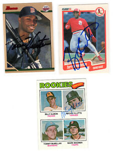 Baseball Star Signed autographed Cards (3)