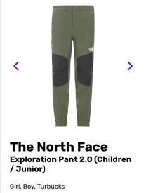 Boys large north face exploration pants 2